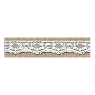 Lace and Burlap Art Napkin Bands