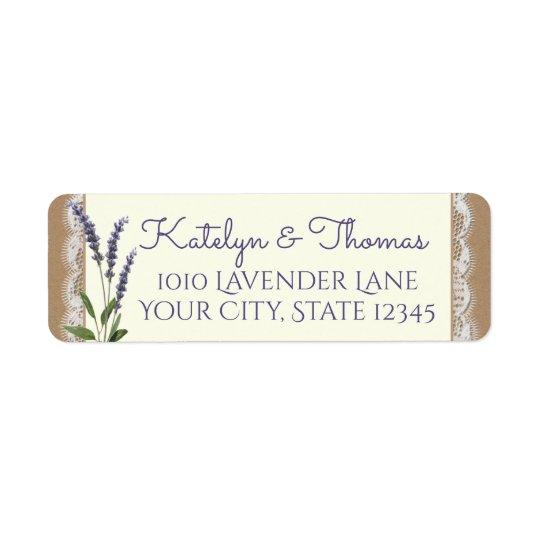 Lace and Lavender Address Return Address Label
