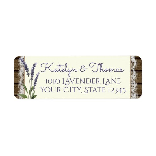 Lace and Lavender Barn Wood Address