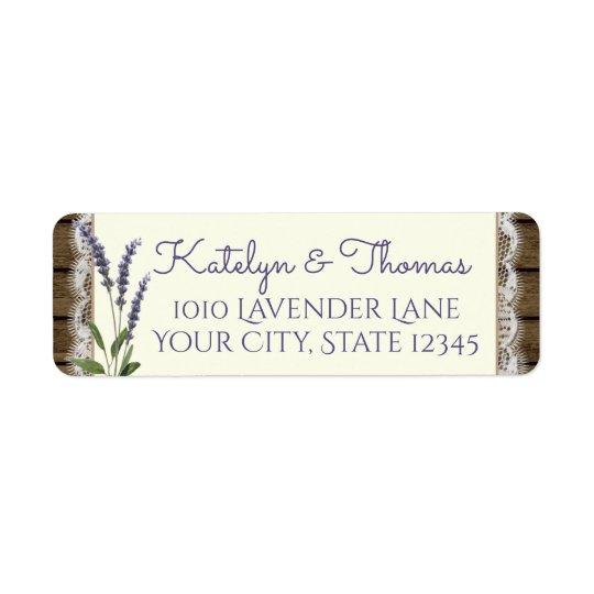 Lace and Lavender Barn Wood Address Return Address Label