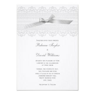Lace and Ribbon wedding invitations