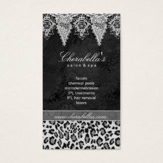 Lace Animal Pattern Hair Salon Leopard Vintage Business Card