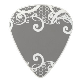 Lace background 1 acetal guitar pick