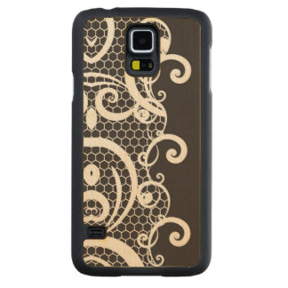 Lace background 1 carved maple galaxy s5 case
