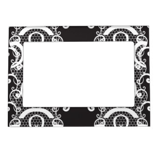 Lace background 1 magnetic picture frame