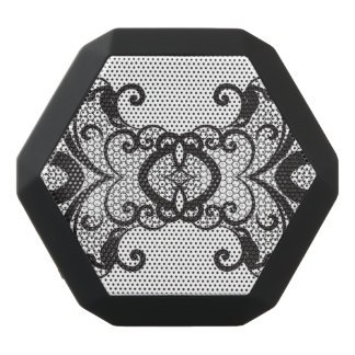 Lace background 2 black bluetooth speaker