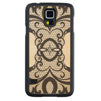 Lace background 2 carved maple galaxy s5 case