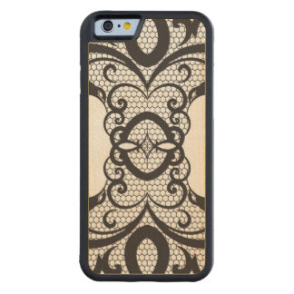 Lace background 2 carved maple iPhone 6 bumper case
