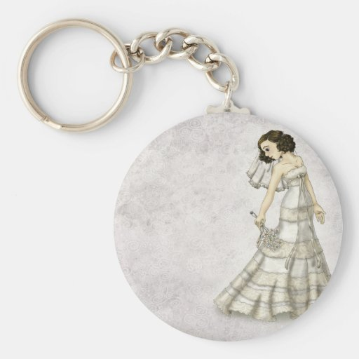 Lace Bride Keychains