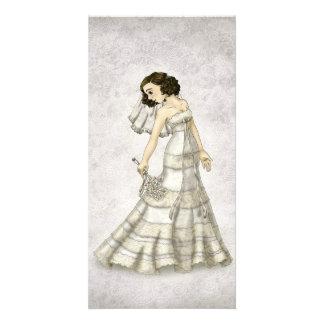 Lace Bride Photo Card Template