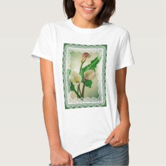 Lace Calla Lilies Tee Shirts