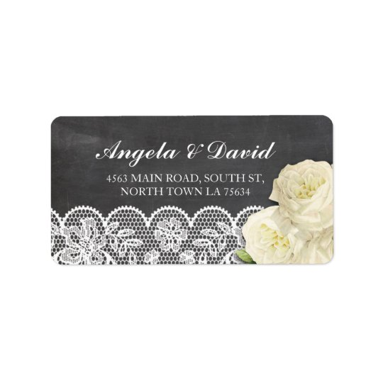 Lace Chalk Floral Rustic Elegant Address Labels