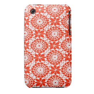 Lace Circles iPhone 3 Case Ferrari Red
