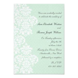 Lace Cover Wedding Invitation