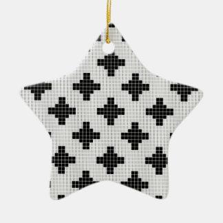 Lace curtain texture ceramic star decoration
