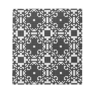 Lace curtain texture notepad