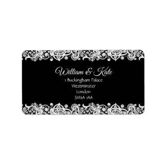 Lace custom Wedding return address labels