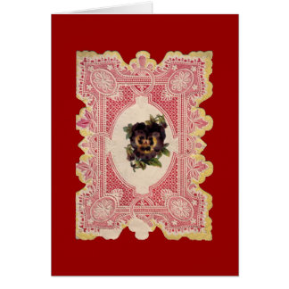 Lace Cut-Out Valentine Note Card
