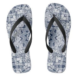 Lace decoration flip flops
