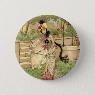 Lace Dress and Parasol 6 Cm Round Badge