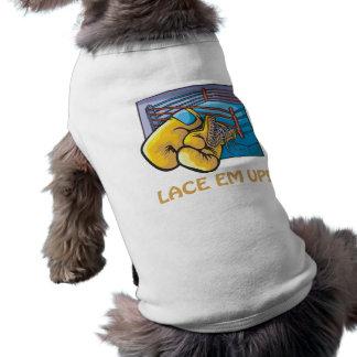 Lace Em Up Dog T-shirt