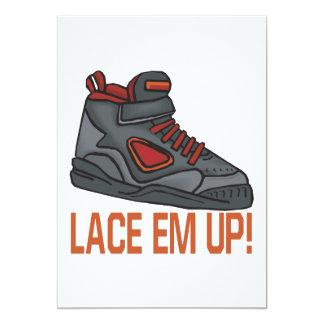 Lace Em Up Custom Announcements
