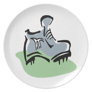 Lace Em Up Dinner Plate