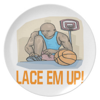 Lace Em Up Party Plates