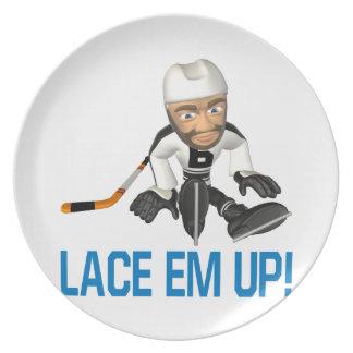 Lace Em Up Party Plate