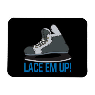 Lace Em Up Rectangular Photo Magnet