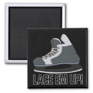 Lace Em Up Square Magnet