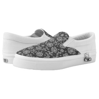 Lace fabric pattern 1 Slip-On shoes