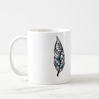 Lace Feather Coffee Mug