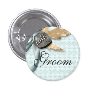 Lace floral fall wedding 3 cm round badge