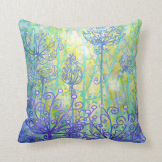 Lace Flowers throw pillow