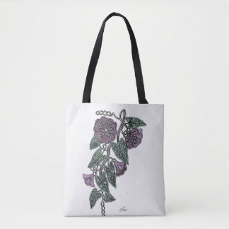 Lace Flowers Tote Bag