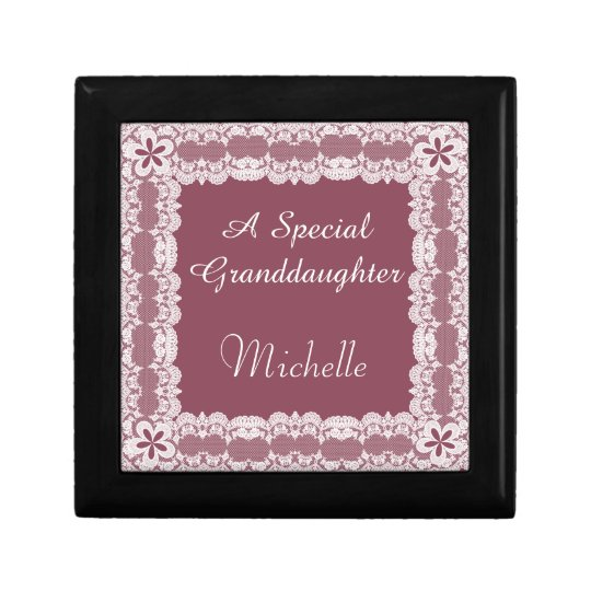 Lace Frame Granddaughter Personalised Gift Box