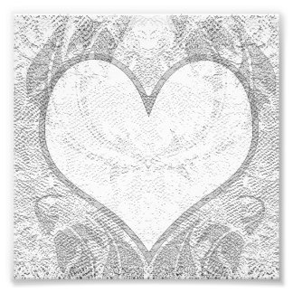 Lace Heart Add Text Photo Art