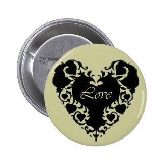 Lace Heart Button