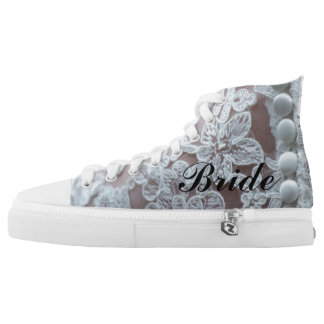 """Lace Illusion """"Bride"""" Sneaker Printed Shoes"""