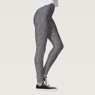 Lace Look Gray Rabbit Pattern Women's Leggings
