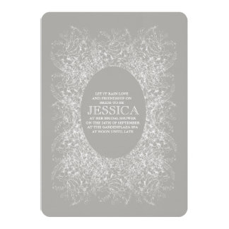 Lace Mandala Circular Bridal Shower Design Card