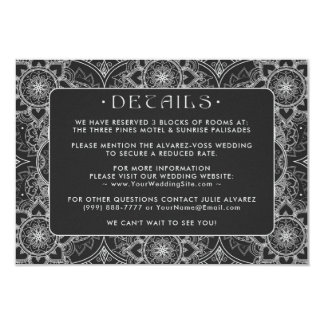 Lace Mandala Wedding Details Cards