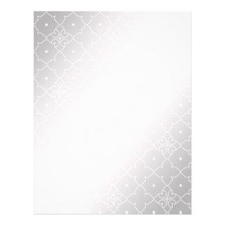 Lace Pattern Background Stylized Silver Color 21.5 Cm X 28 Cm Flyer