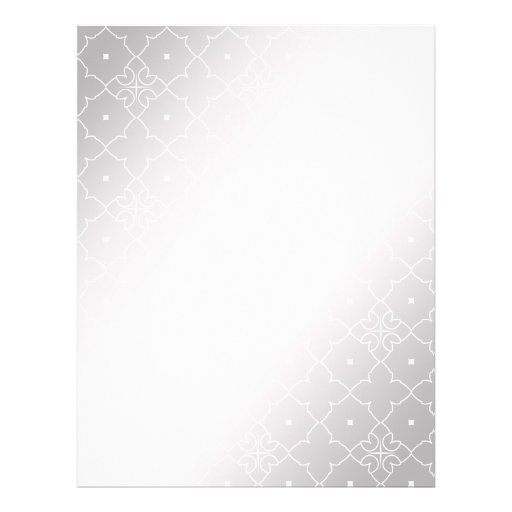 Lace Pattern Background Stylized Silver Color Full Color Flyer