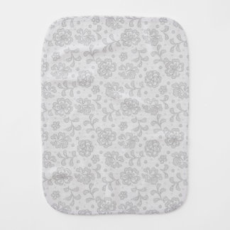 Lace pattern, flower vintage 1 burp cloth