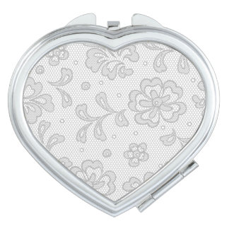 Lace pattern, flower vintage 1 mirror for makeup