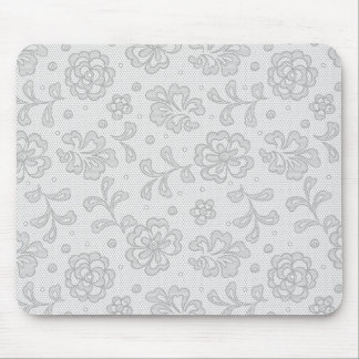 Lace pattern, flower vintage 1 mouse mat