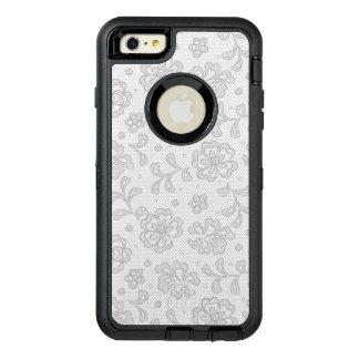Lace pattern, flower vintage 1 OtterBox defender iPhone case