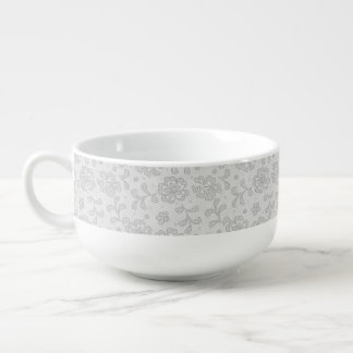 Lace pattern, flower vintage 1 soup mug